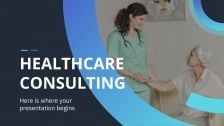 Healthcare Consulting presentation template