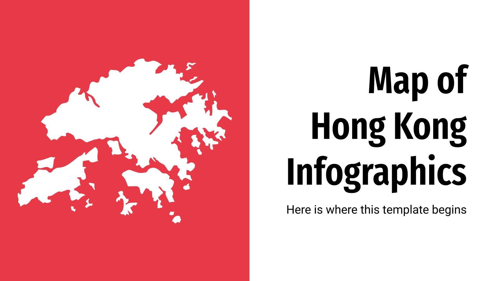 Infographies de carte de Hong Kong : Modèles de présentation