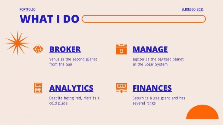 Minimalistisches Investition Portfolio Präsentationsvorlage
