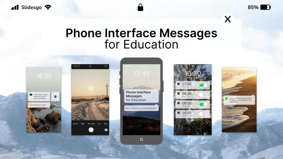 Handy Interface Nachrichten für Bildung Präsentationsvorlage