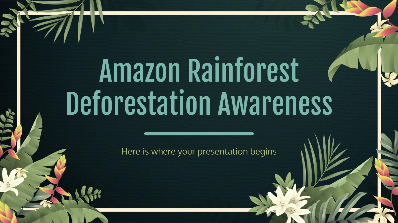 Plantilla de presentación Concienciación sobre la deforestación de la selva amazónica