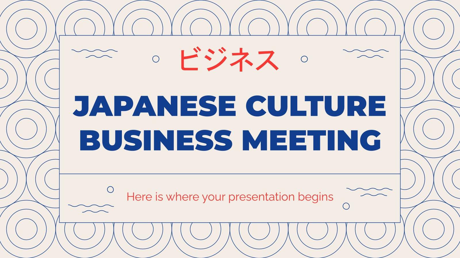 Réunion d'affaires style culture japonaise : Modèles de présentation