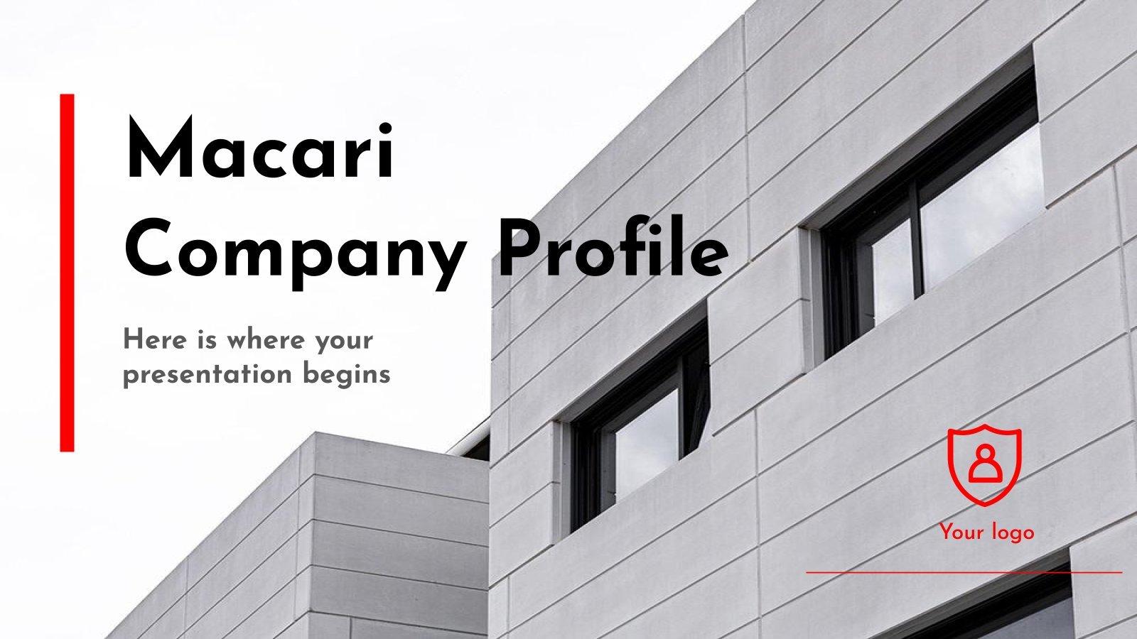 Macari Firmenprofil Präsentationsvorlage