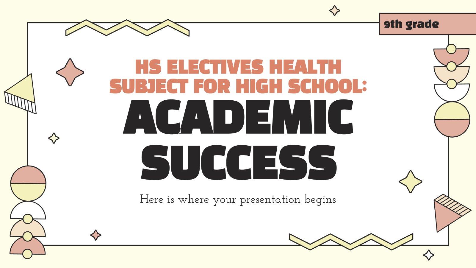 Modelo de apresentação Matéria eletiva do ensino médio: Sucesso acadêmico