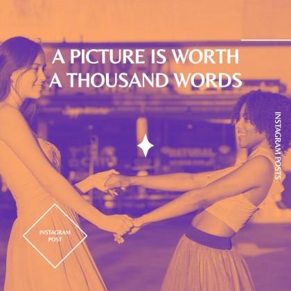 Elegante Duotone Instagram Posts Kampagne Präsentationsvorlage