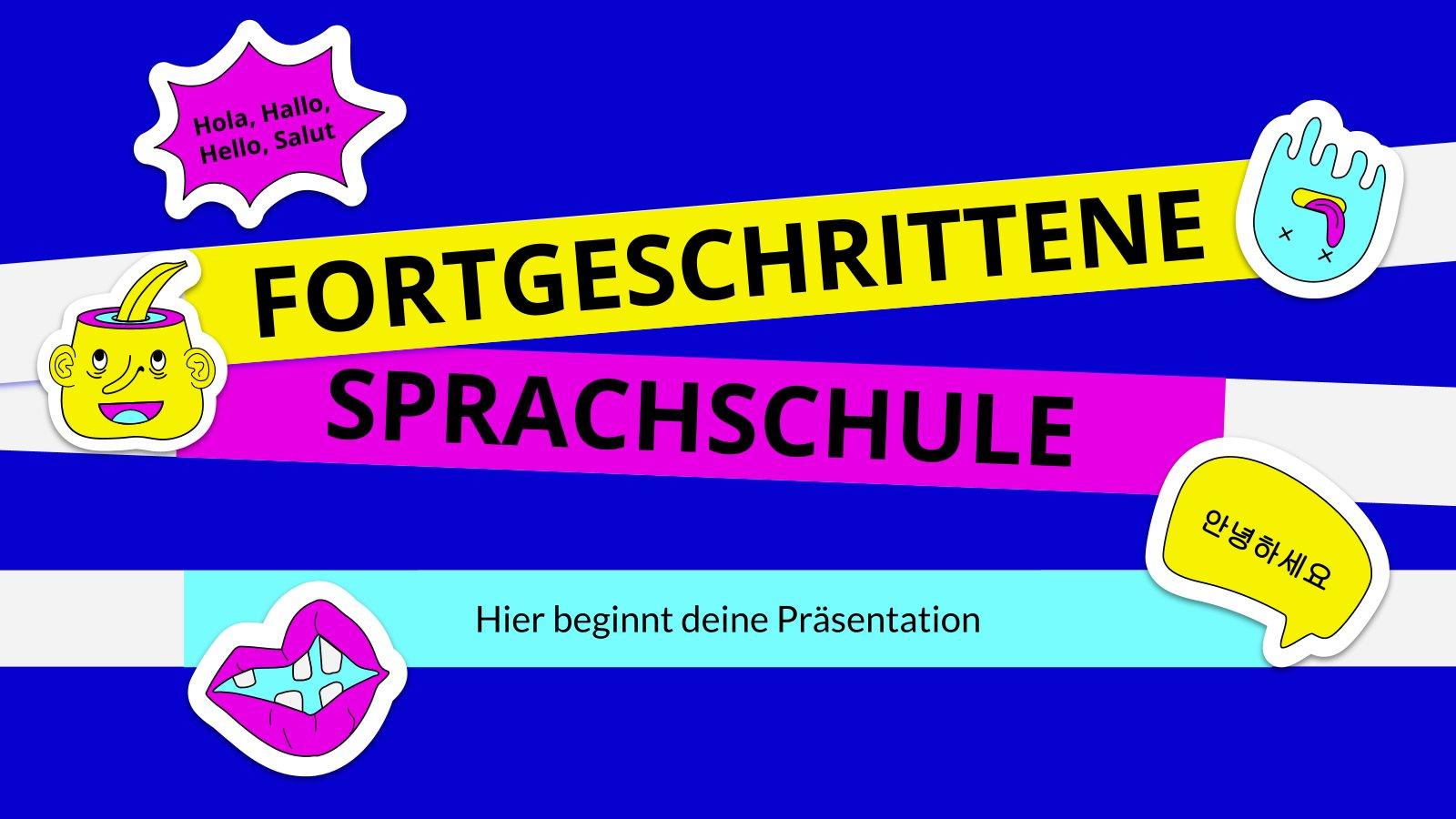 Fortgeschrittene Sprachschule : Modèles de présentation