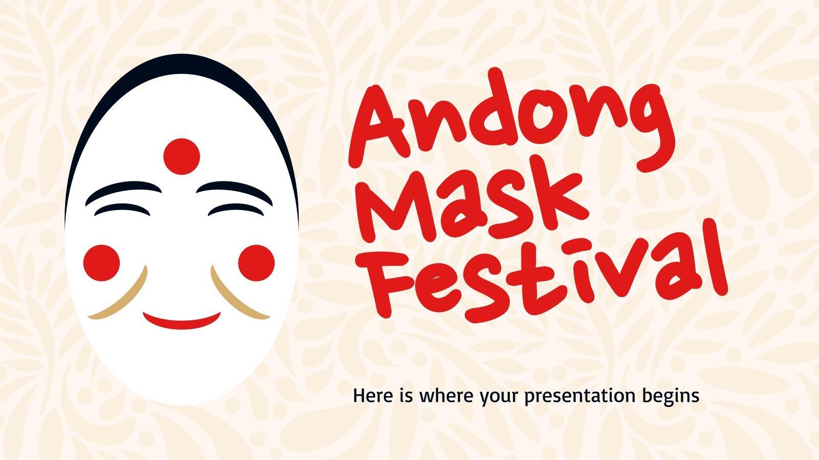 Plantilla de presentación Festival de Danza de Máscaras de Andong