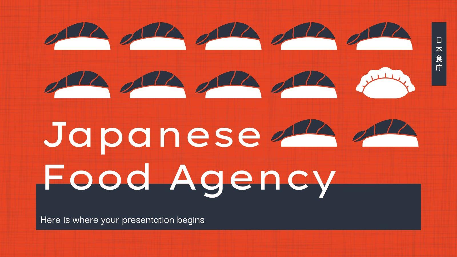 Plantilla de presentación Agencia distribuidora de comida japonesa