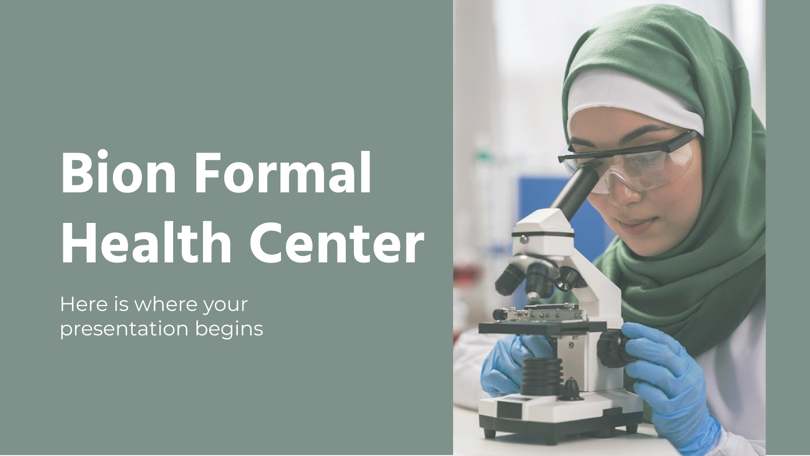 Bion Formal Health Center presentation template