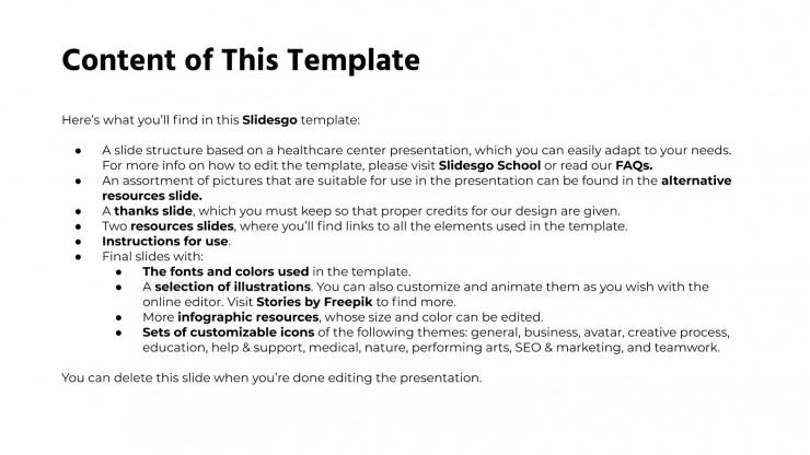 Centre de santé Bion formel : Modèles de présentation