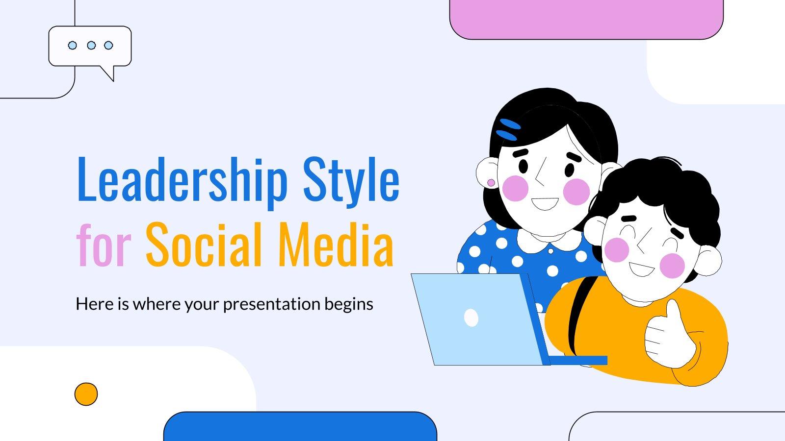 Leadership Style for Social Media presentation template