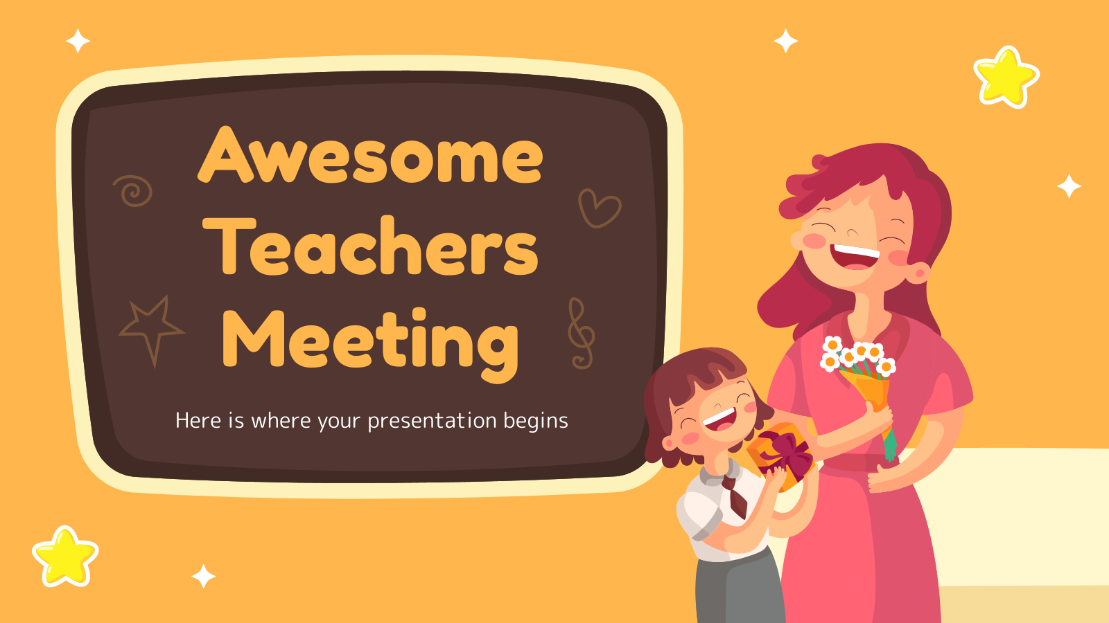 Awesome Teachers Meeting presentation template