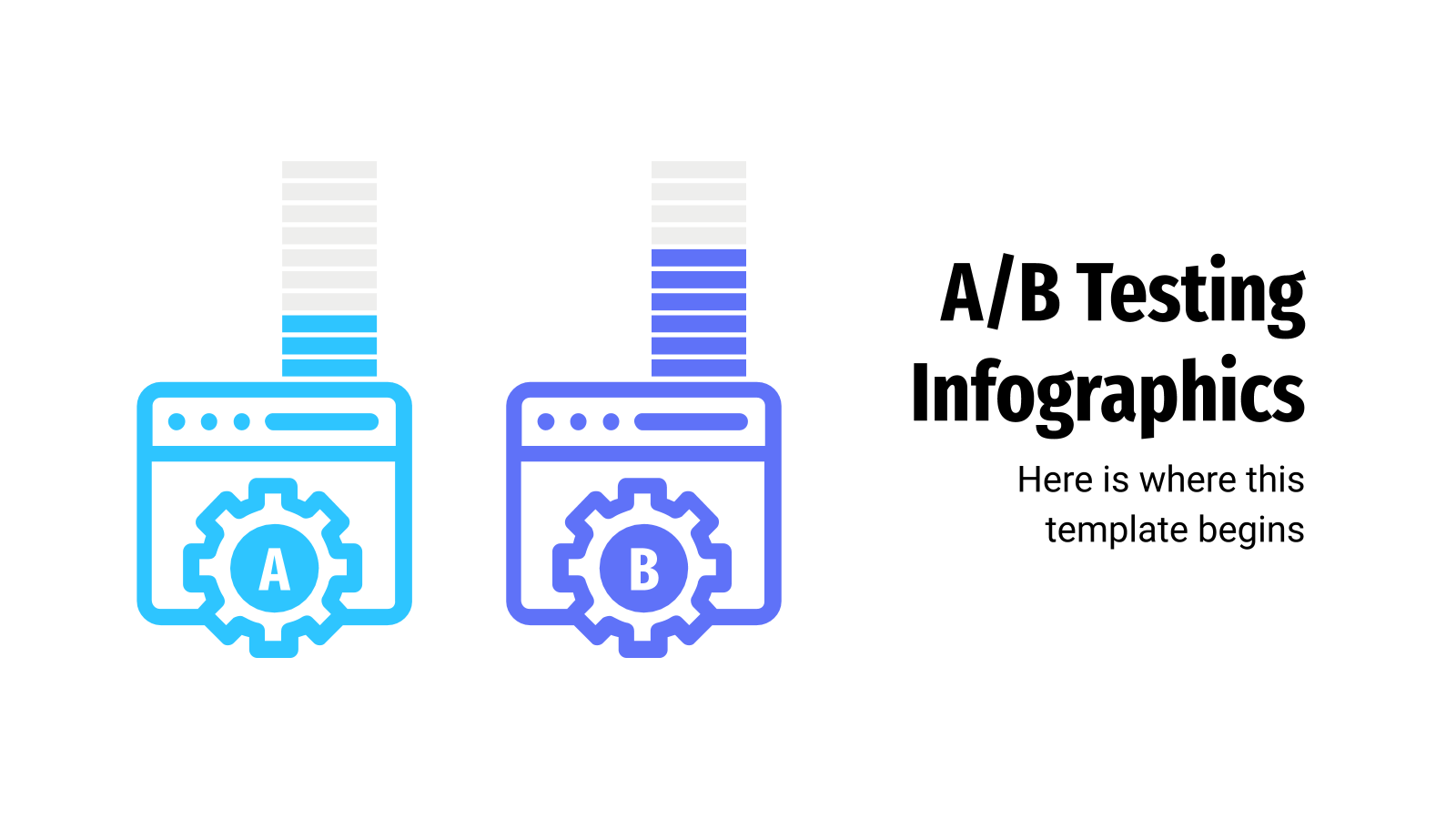 A/B Testing Infographics presentation template