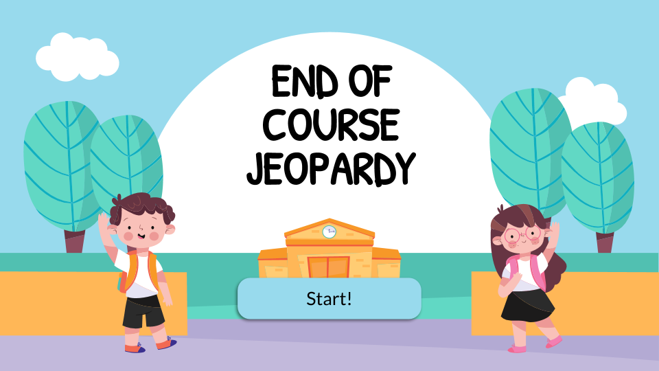 End of Course Jeopardy presentation template