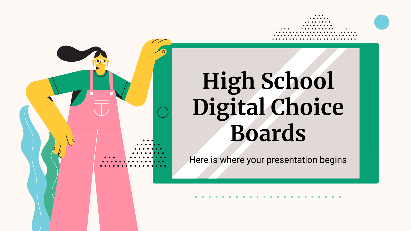 High School Digital Choice Boards presentation template