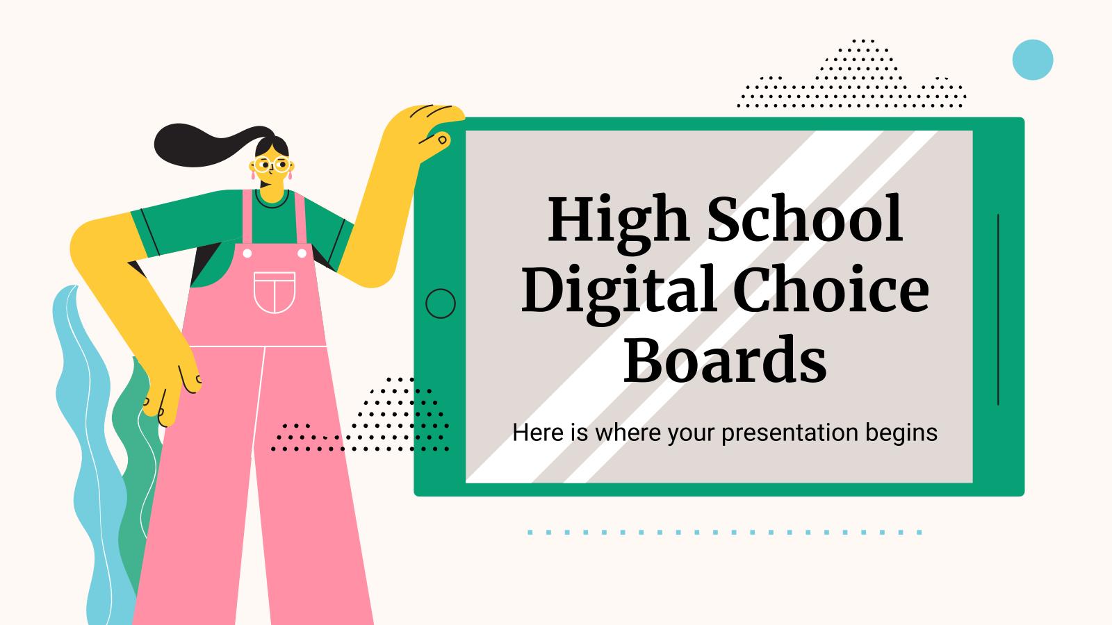 Tableau de sélection numériques pour le lycée : Modèles de présentation