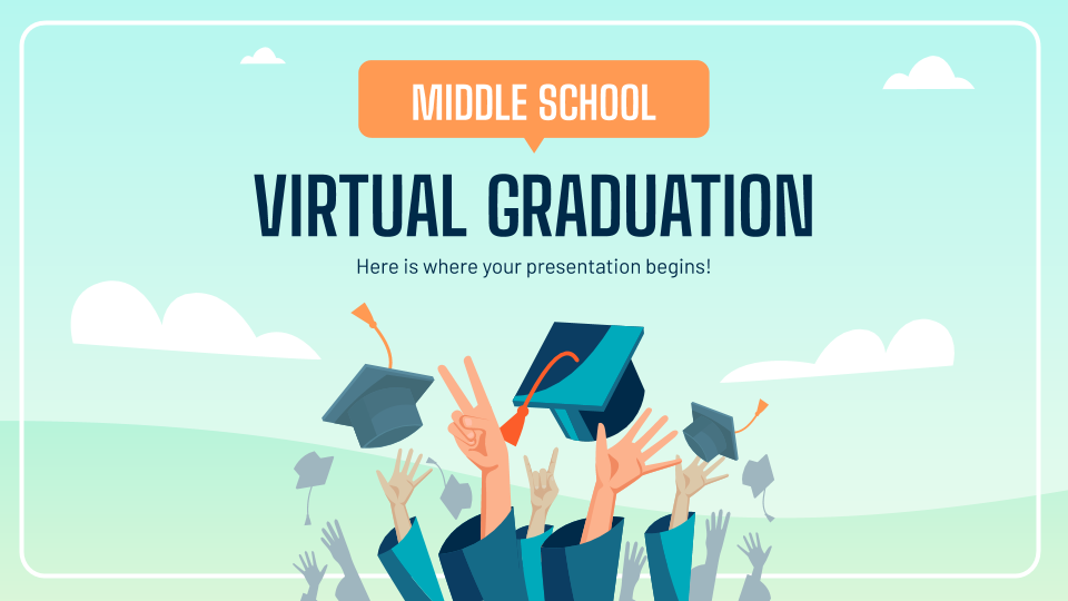 Middle School Virtual Graduation presentation template