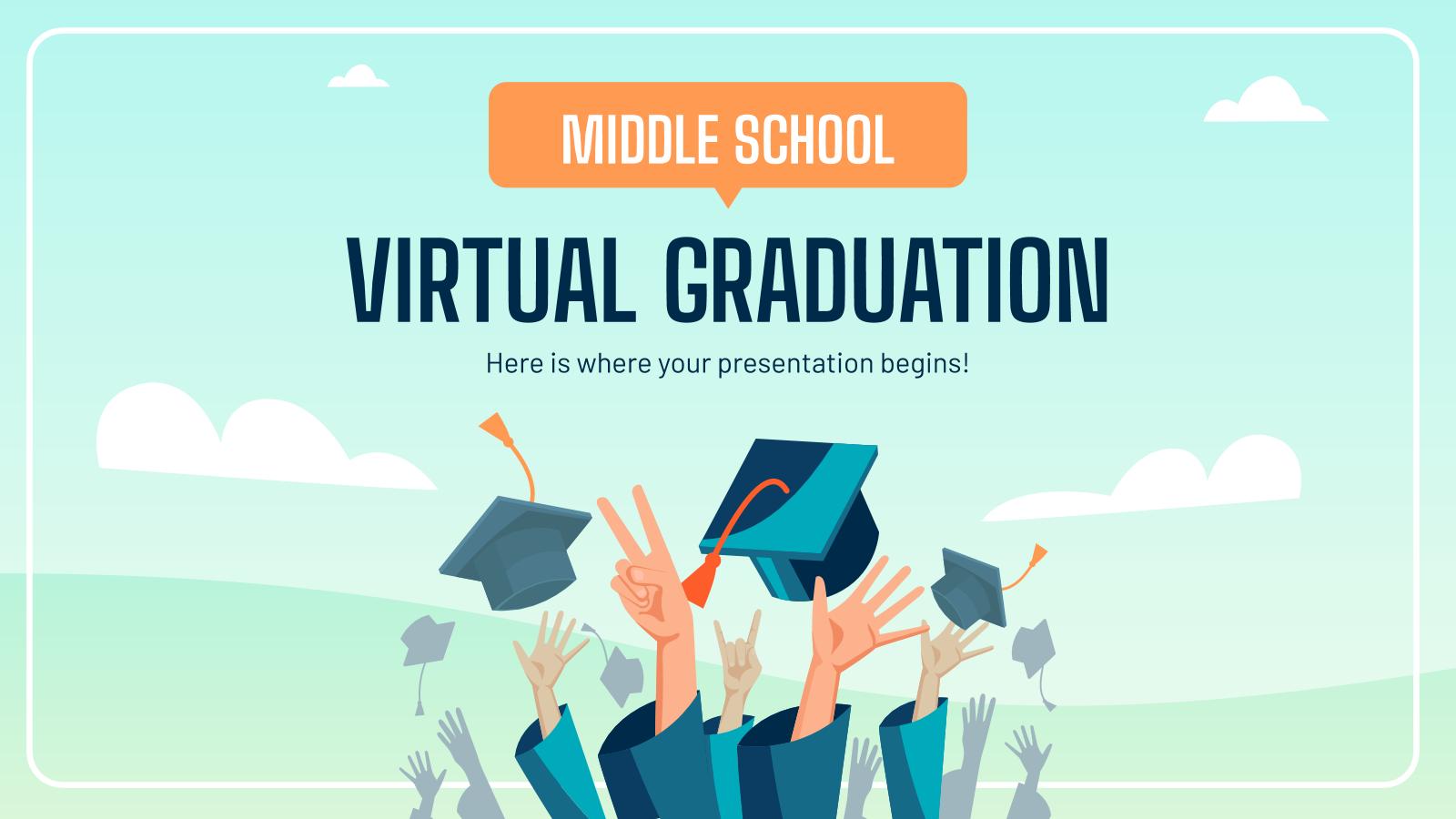 Middle School Virtual Graduation presentation template