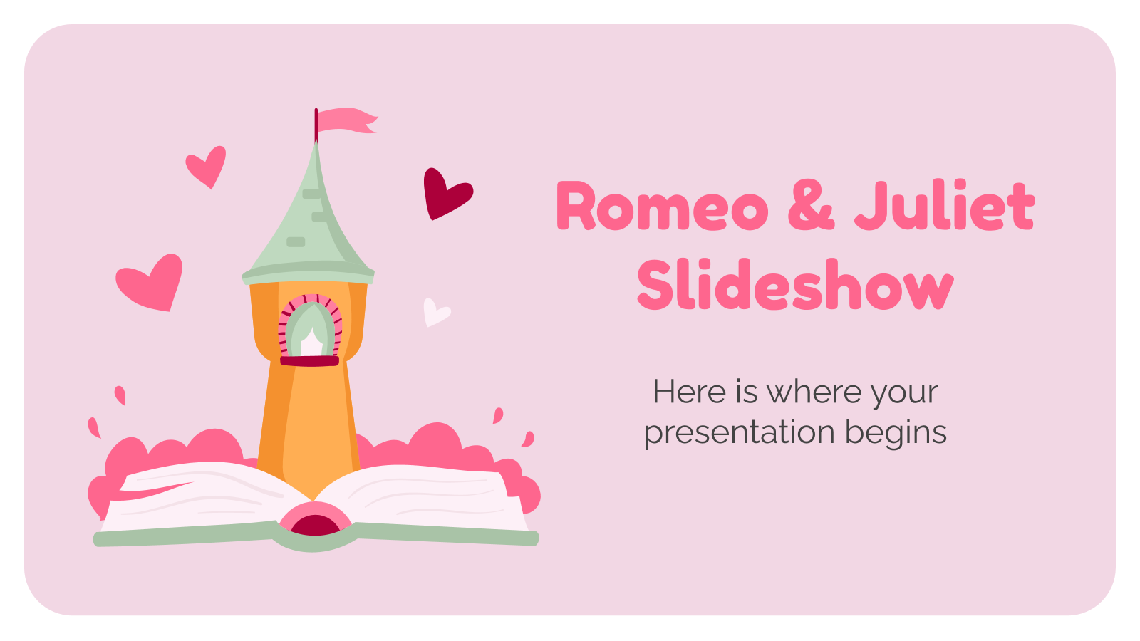 Romeo & Juliet Slideshow presentation template