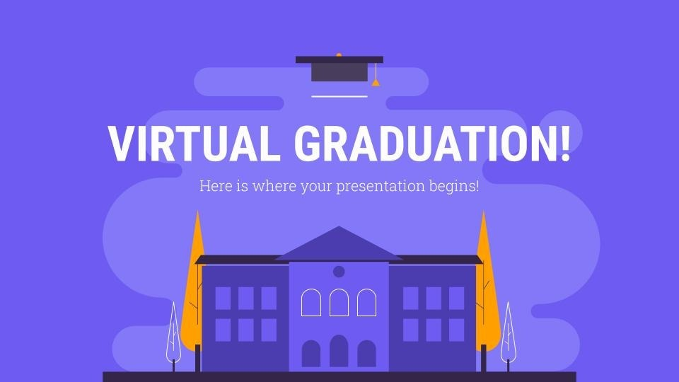 High School Virtual Graduation presentation template