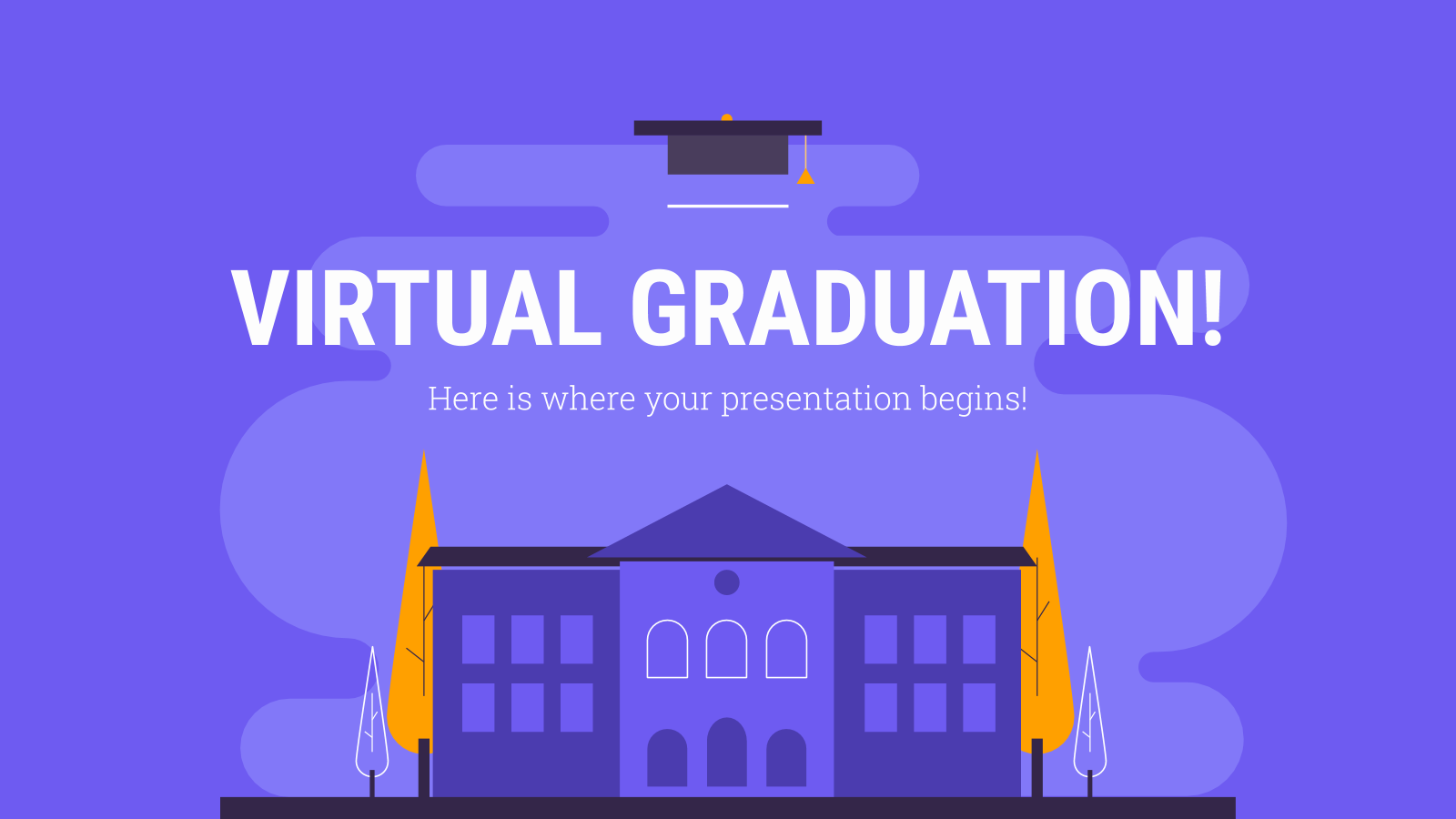 High School Virtual Graduation presentation template