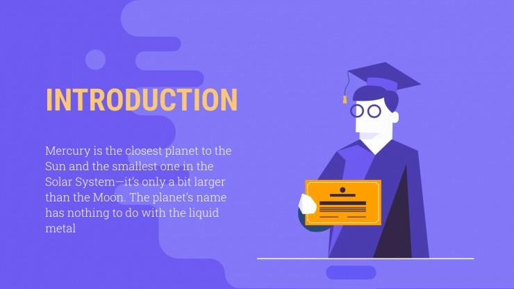 Plantilla de presentación Graduación virtual de bachillerato
