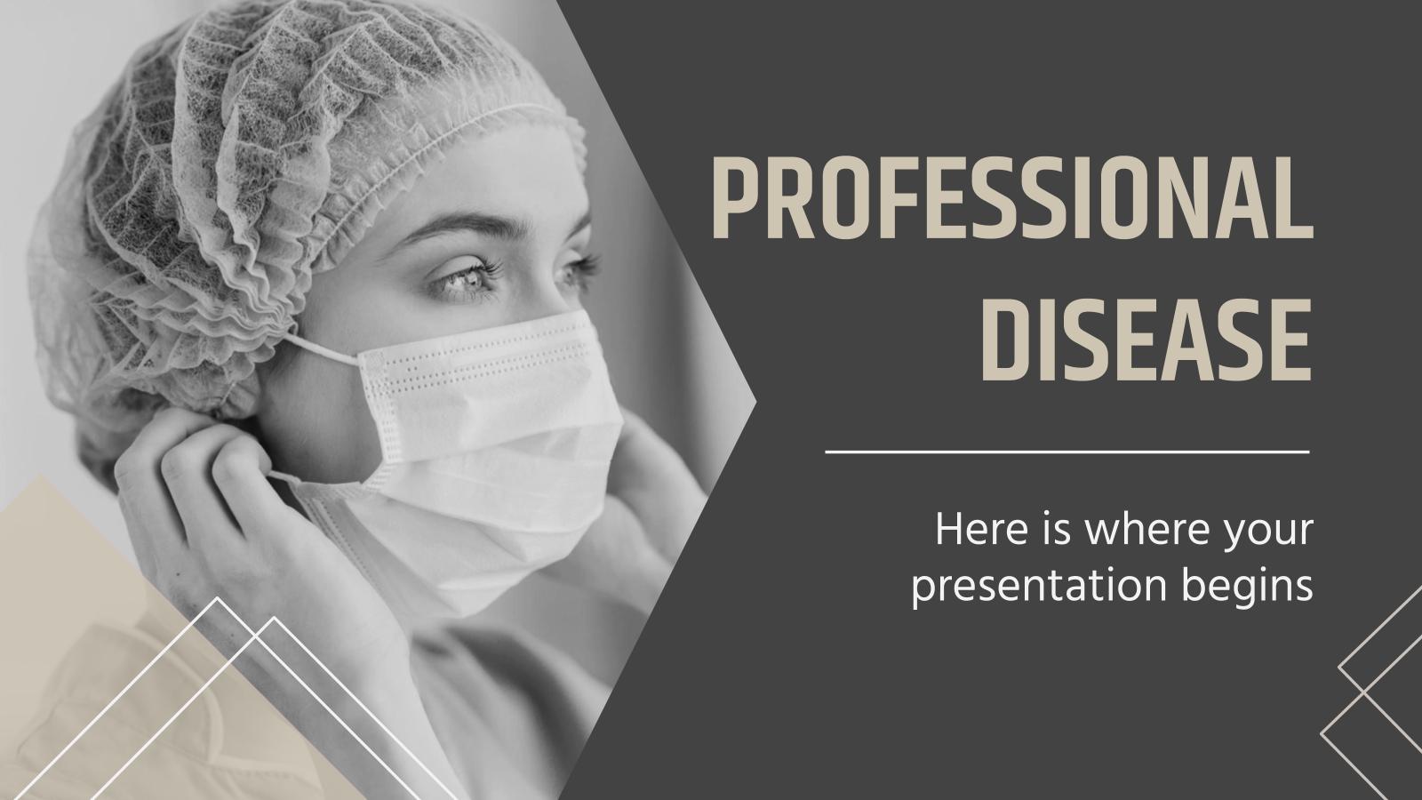 Modelo de apresentação Design profissional para medicina