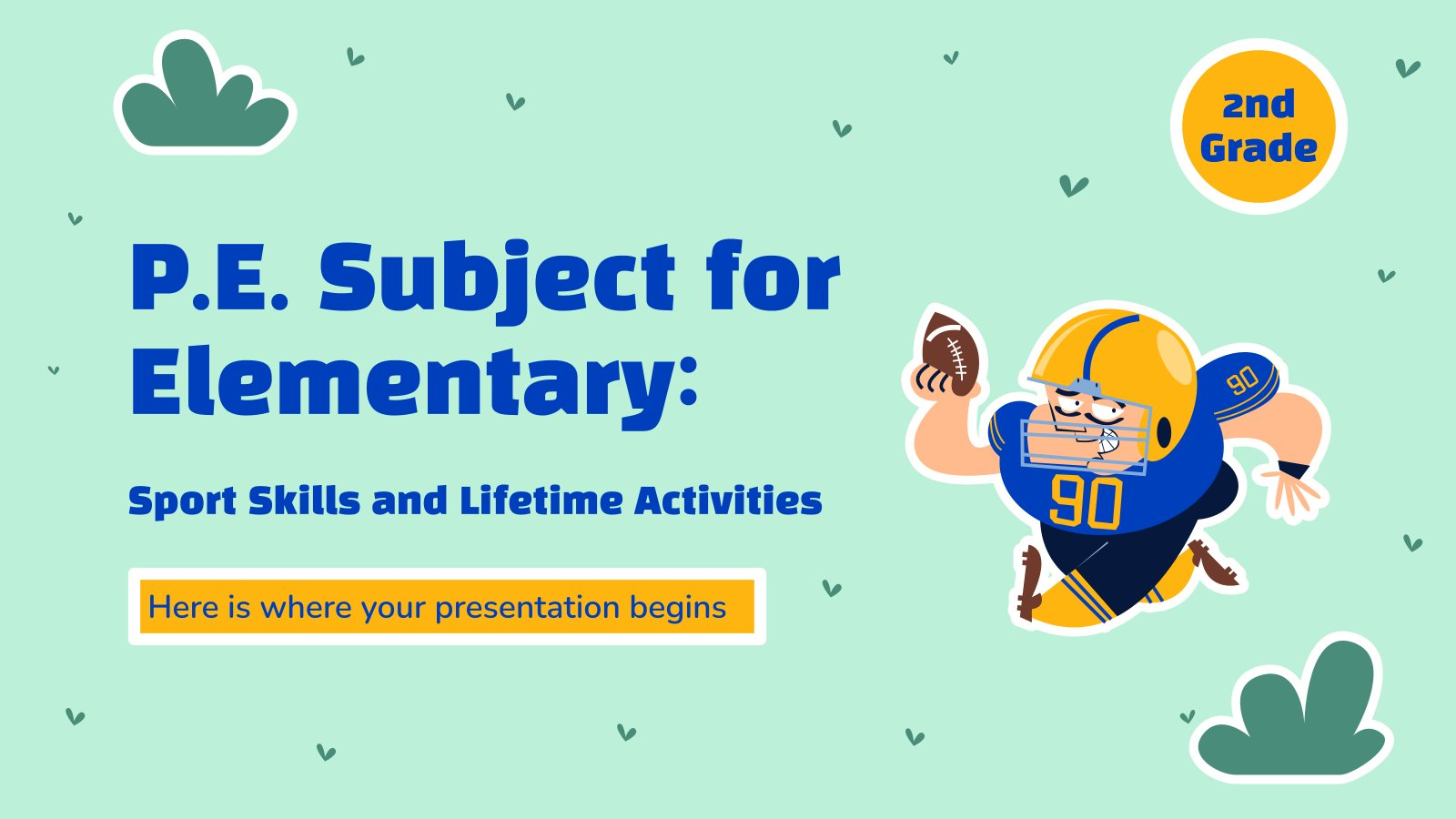 Modelo de apresentação Educação física para o ensino básico: Habilidades esportivas e atividades vitalícias
