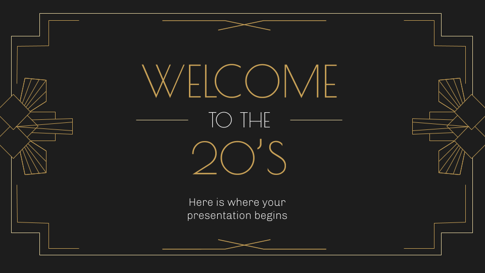 Welcome to the 20s presentation template