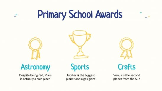 Prix de fin d´année pour les écoles primaires : Modèles de présentation