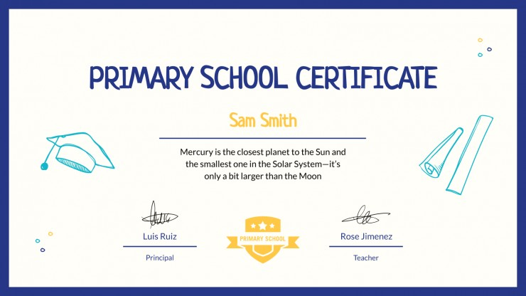 Primary School End of the Year Awards presentation template