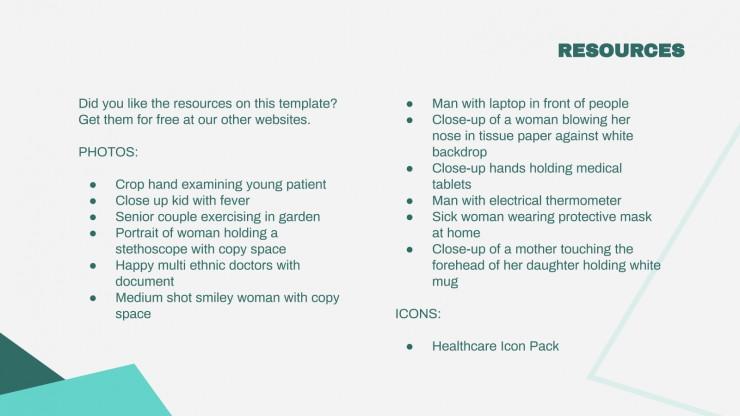 Newsletter sur la santé : Modèles de présentation
