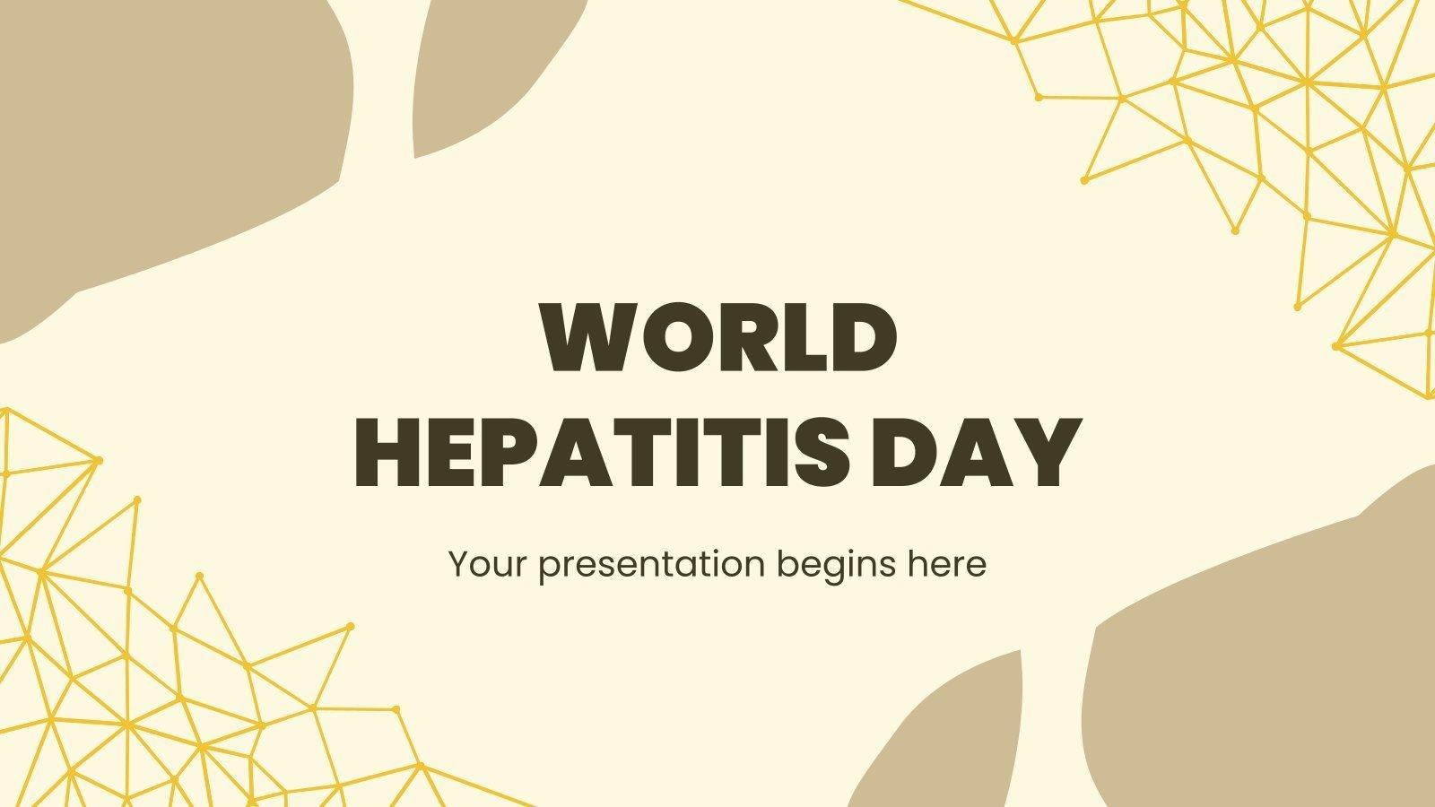 Plantilla de presentación Día Mundial contra la Hepatitis