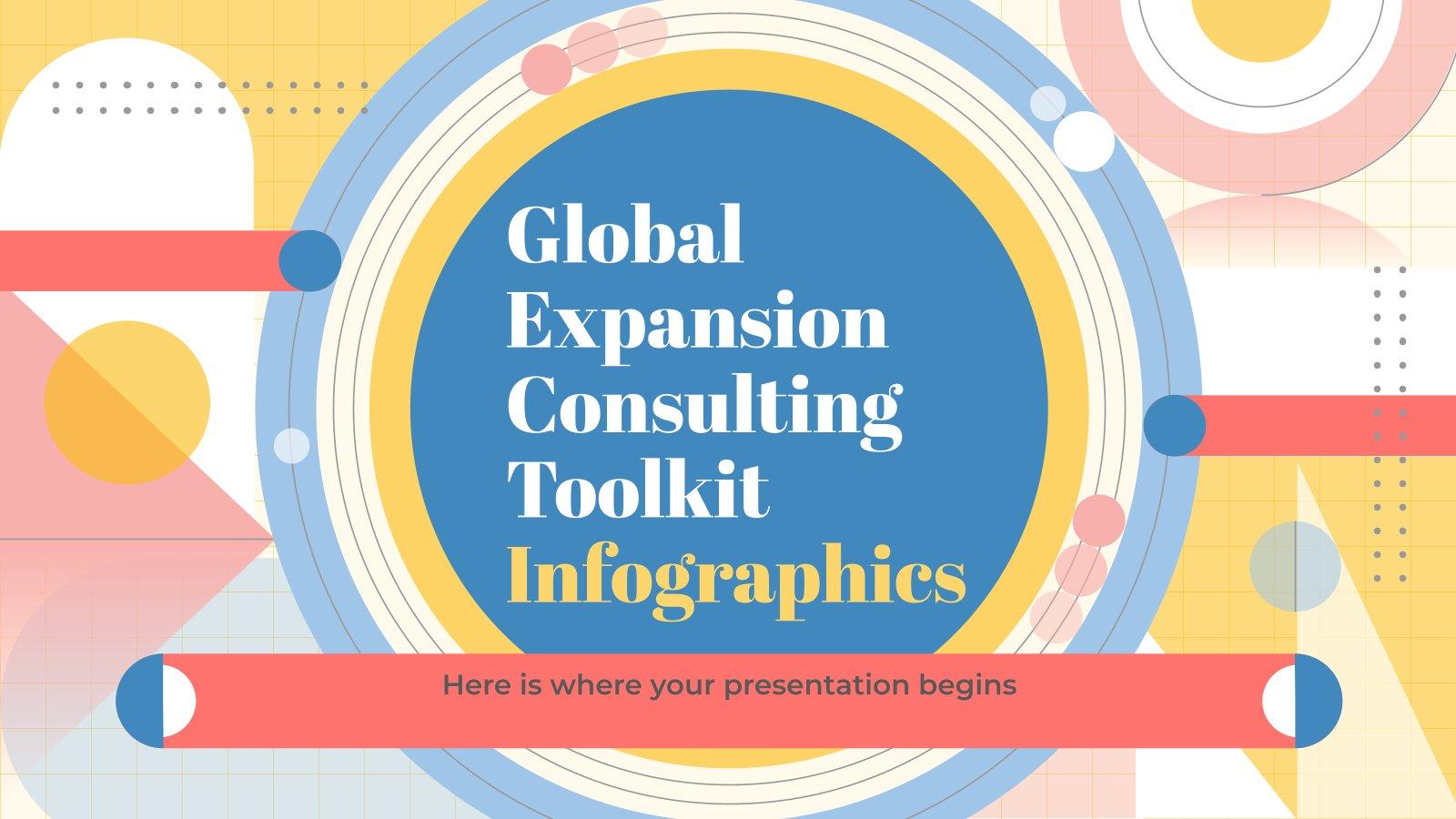 Modelo de apresentação Infográficos de kit de ferramentas do consultor: expansão do mercado