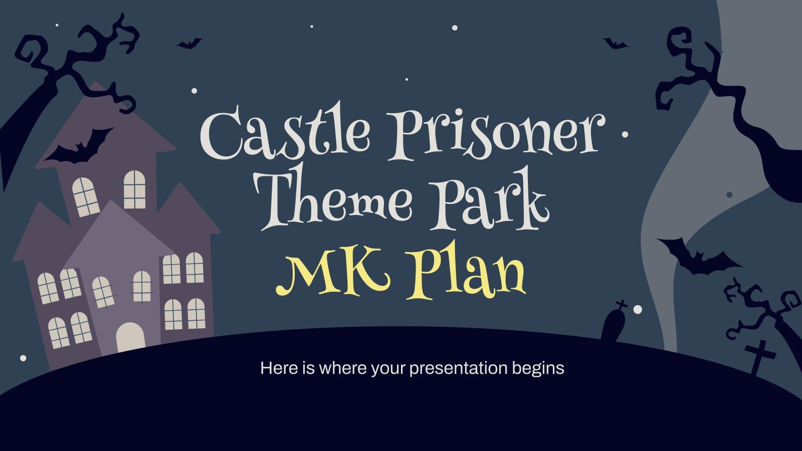 Modelo de apresentação Plano de marketing de parque temático de terror