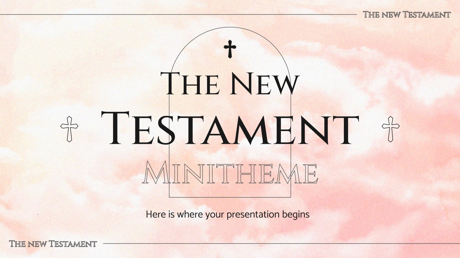 The New Testament Minitheme presentation template