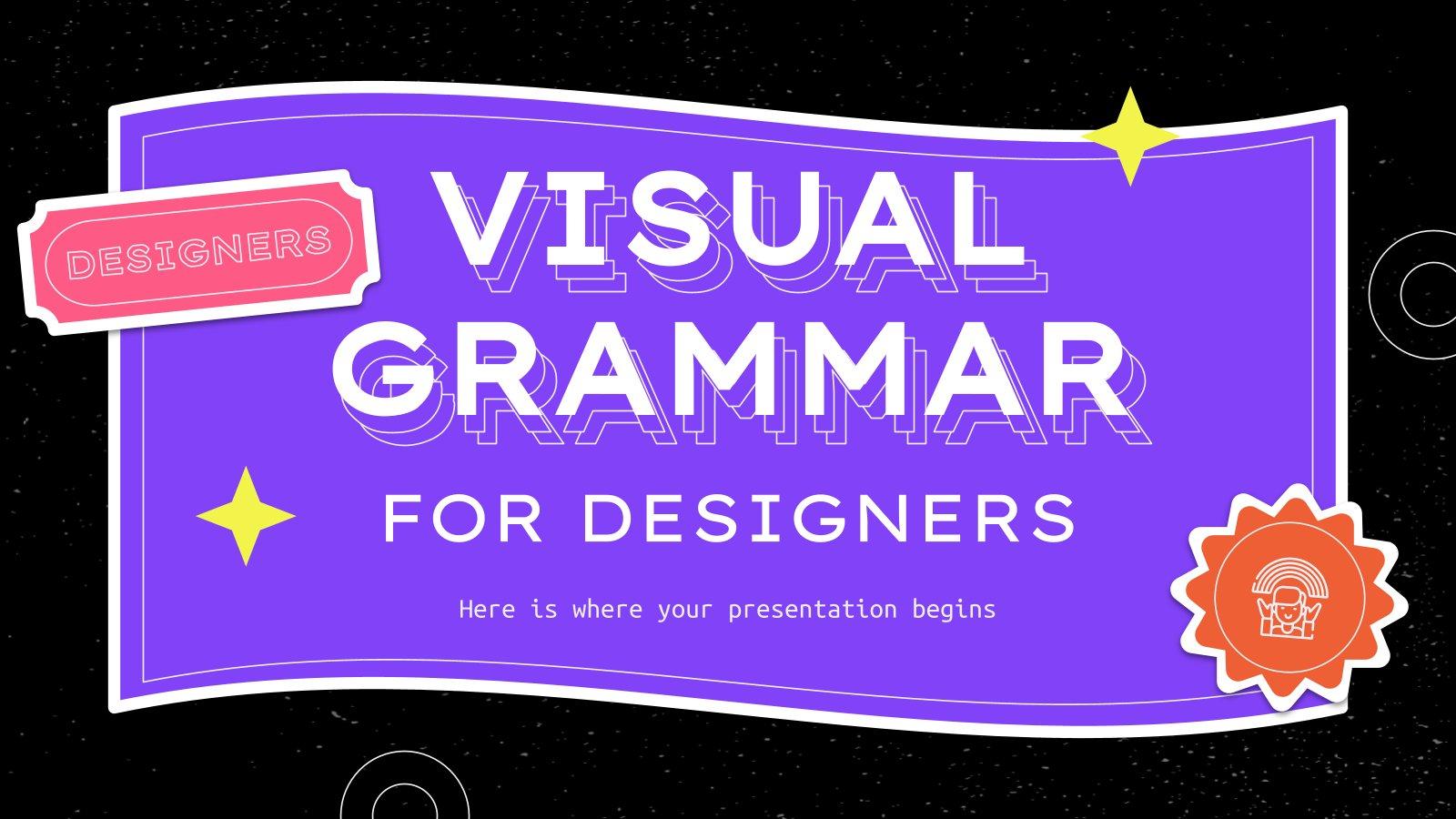 Visual Grammar for Designers presentation template