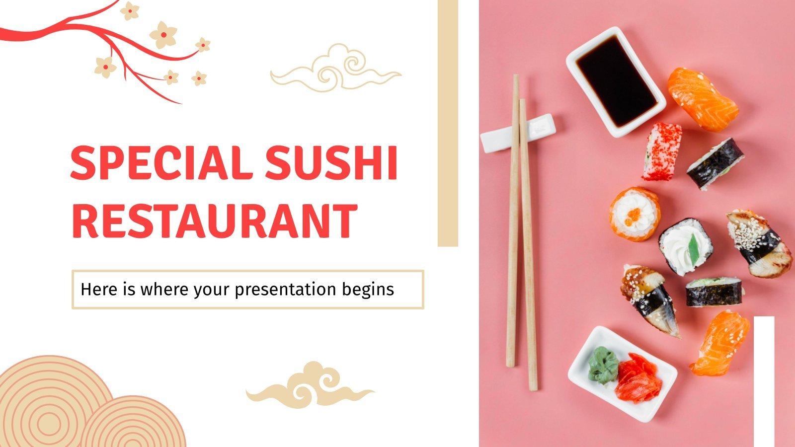 Plantilla de presentación Restaurante de sushi especial