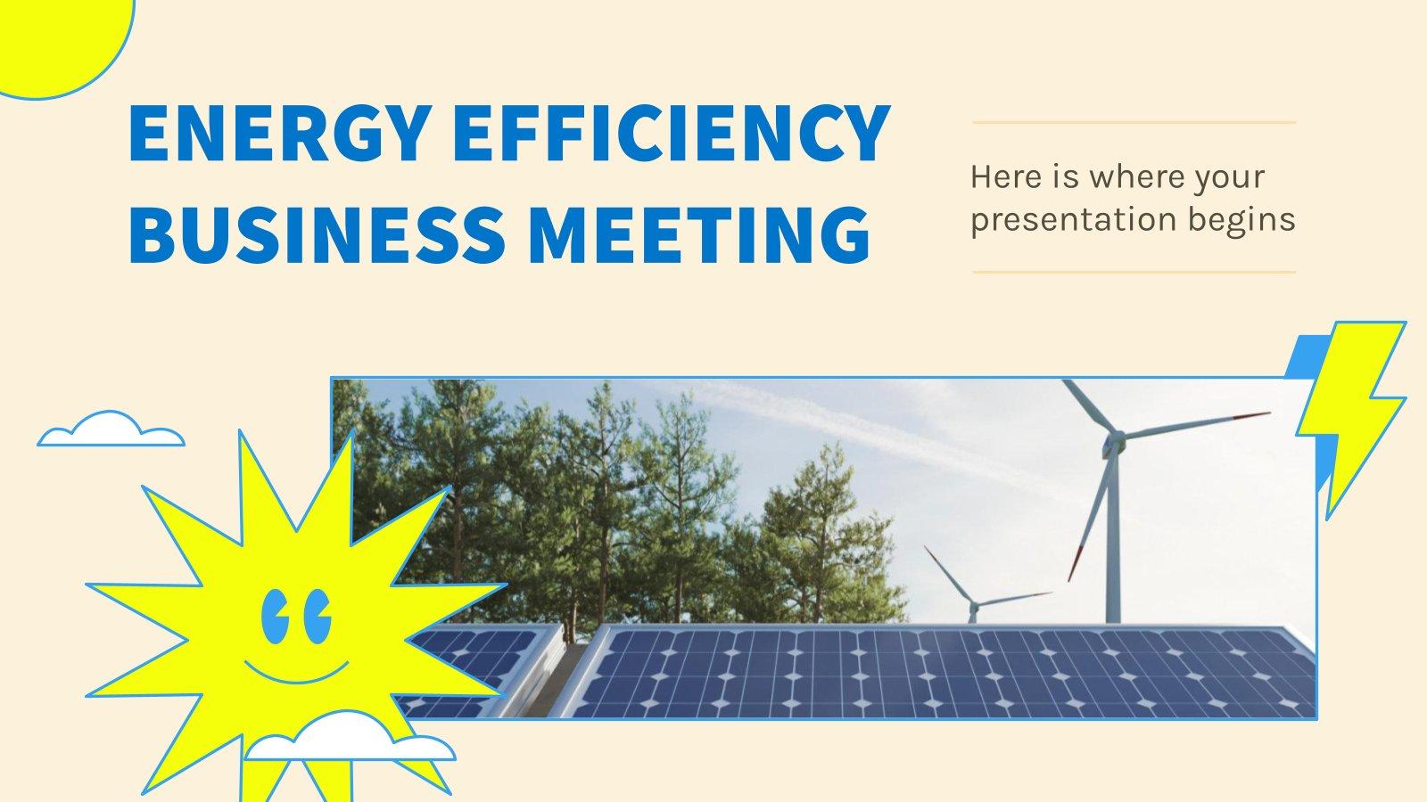 Réunion sur l'efficacité énergétique : Modèles de présentation