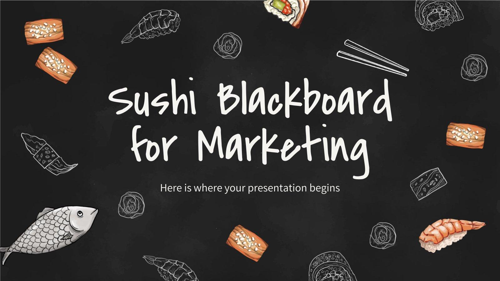 Plantilla de presentación Pizarra de sushi para marketing