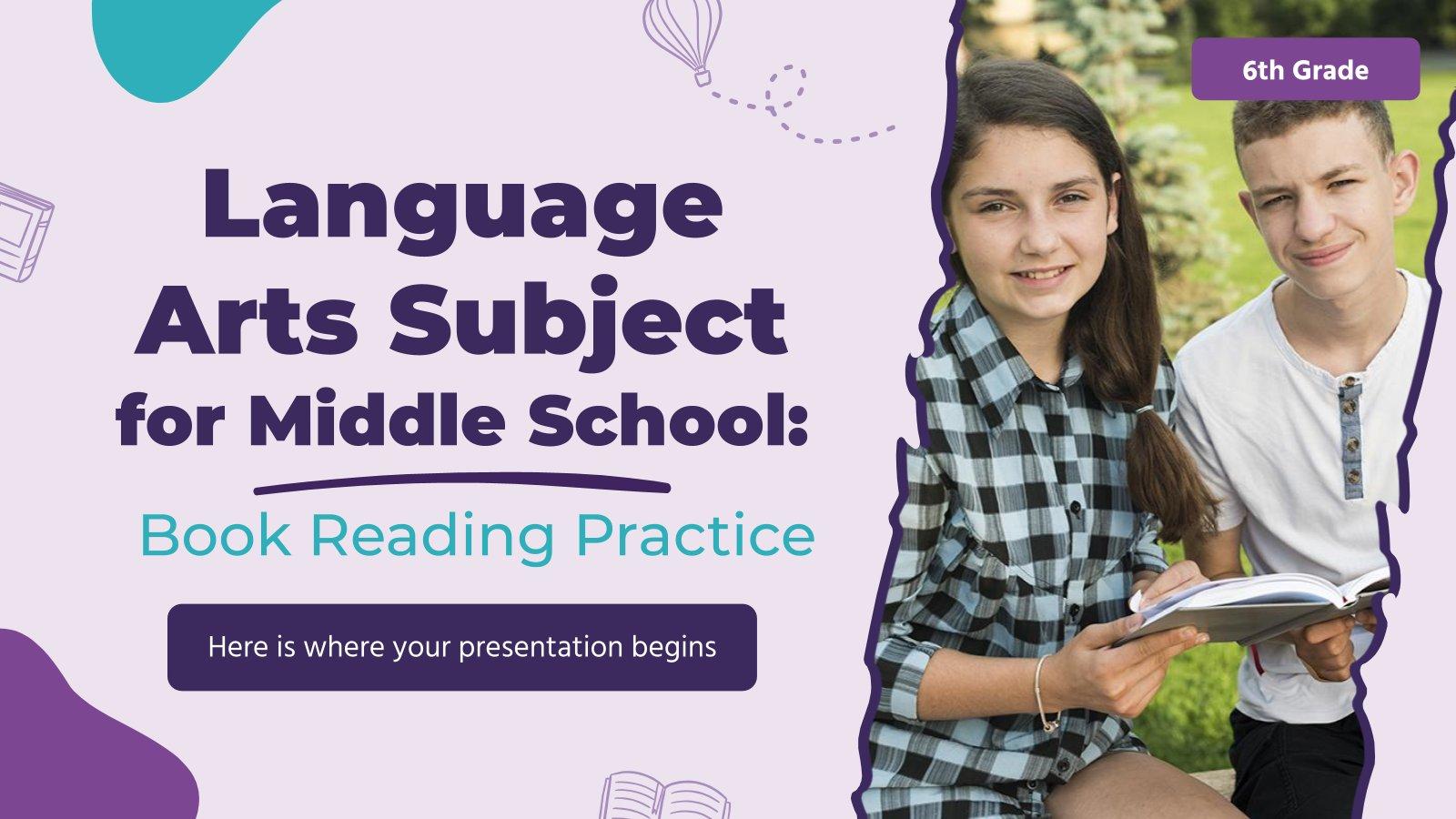 Sprache für die 6. Klasse: Bücher lesen Präsentationsvorlage