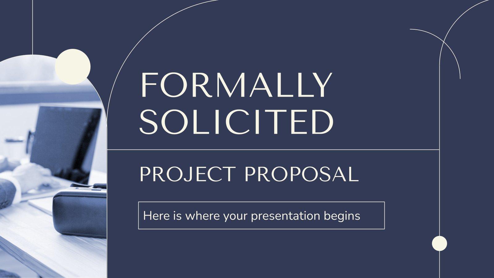 Plantilla de presentación Propuesta de proyecto solicitud formal