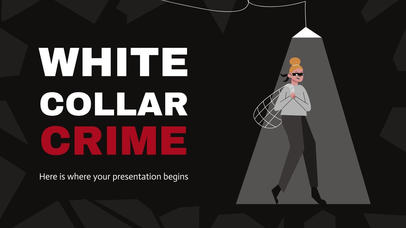 Plantilla de presentación Delitos de guante blanco