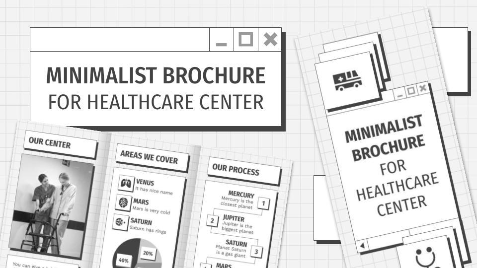 Minimalistische Broschüre für ein Gesundheitszentrum Präsentationsvorlage