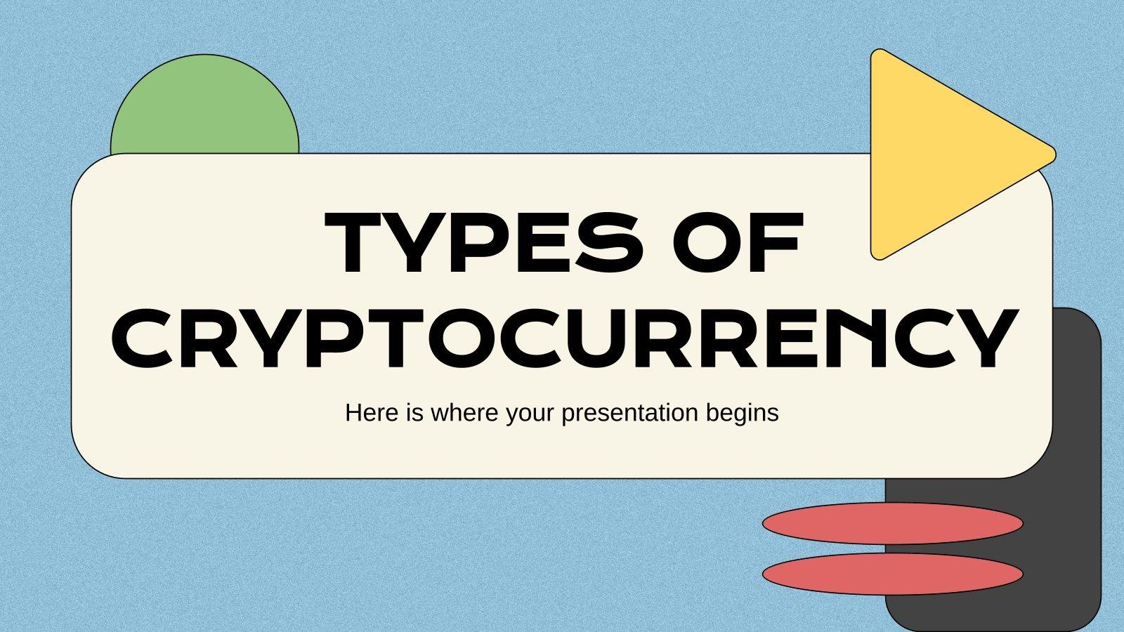 Arten von Kryptowährungen Präsentationsvorlage