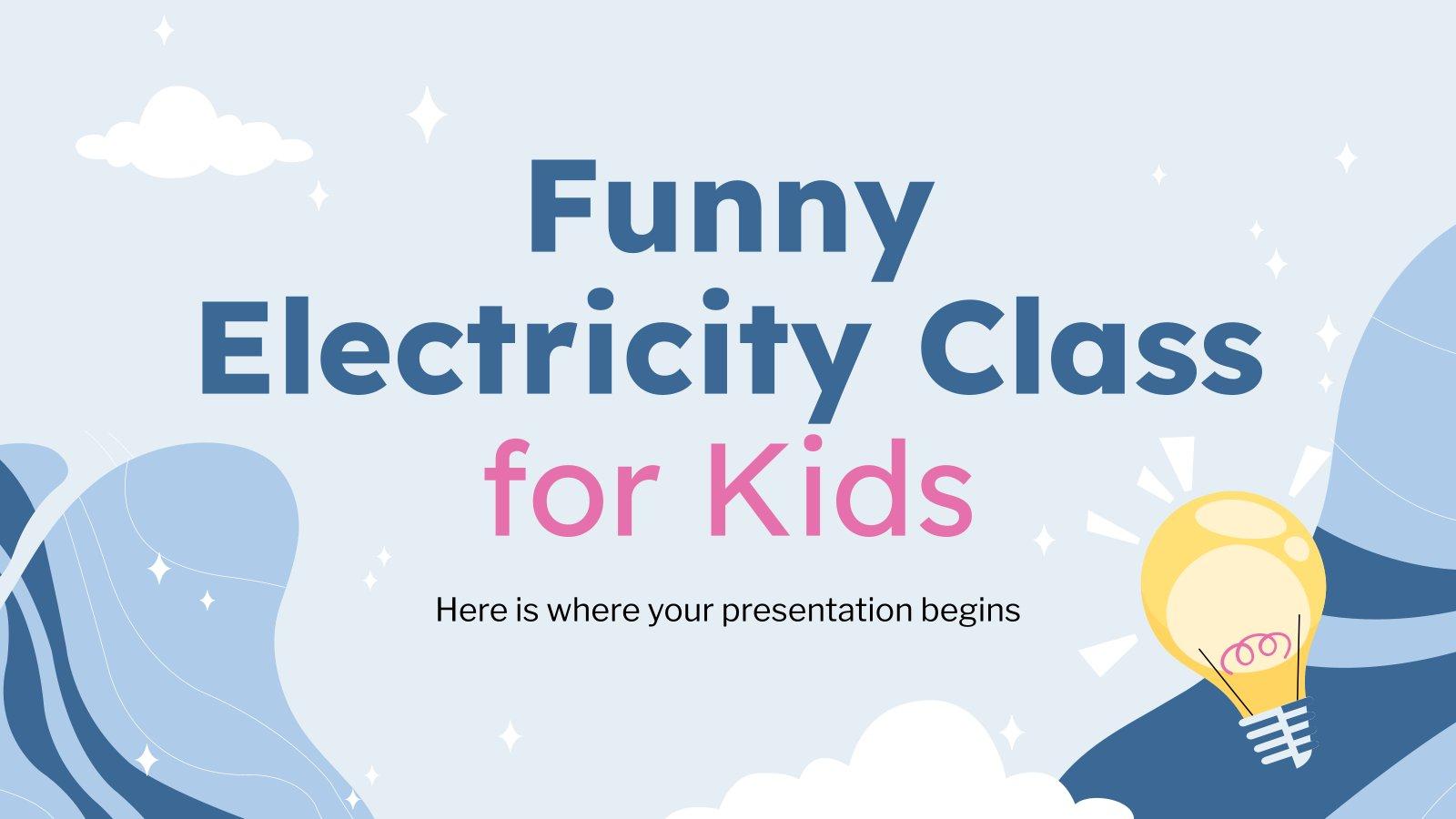Cours d'électricité amusant pour les enfants : Modèles de présentation