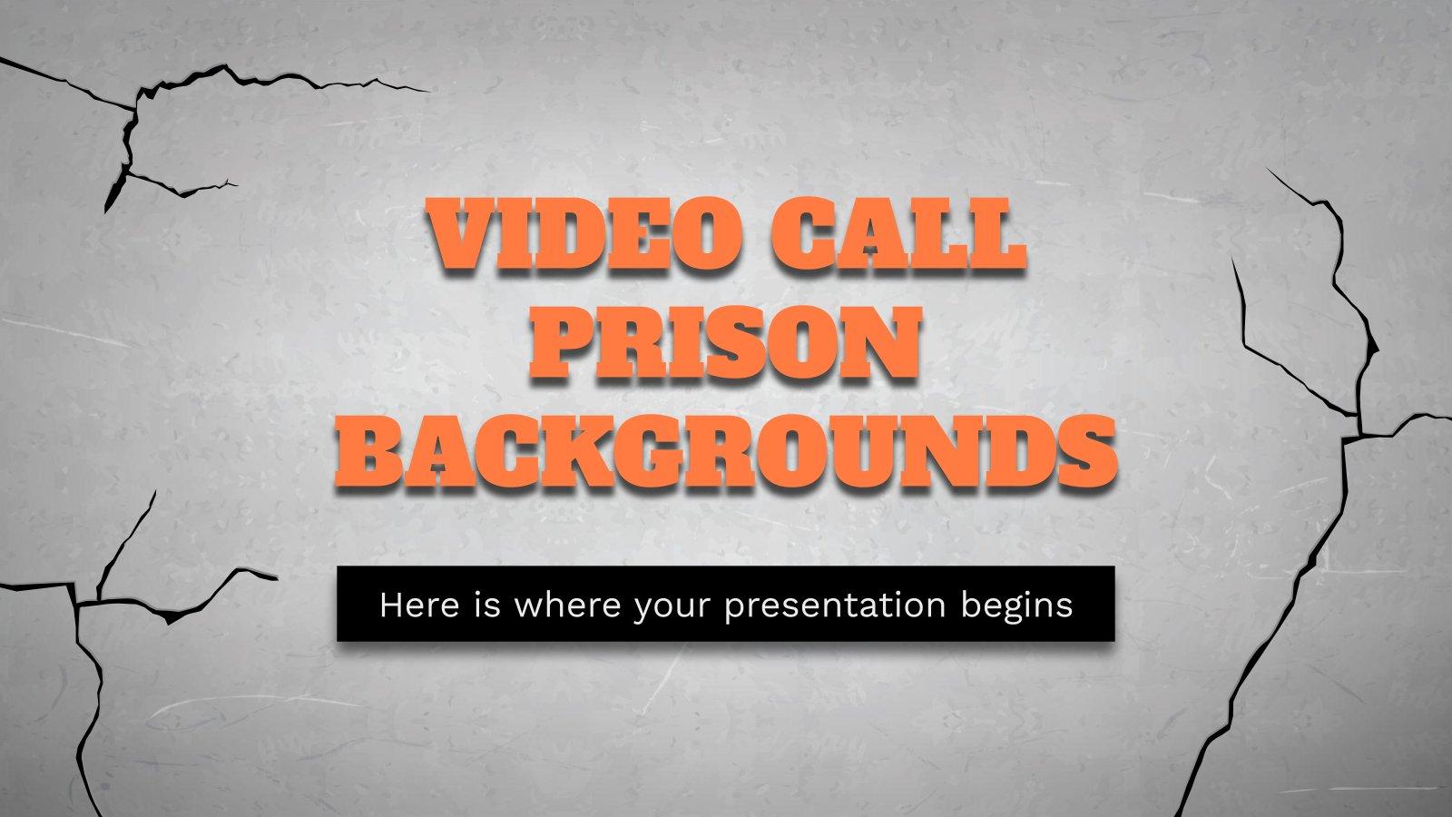 Plantilla de presentación Fondos de videollamada penitenciarios