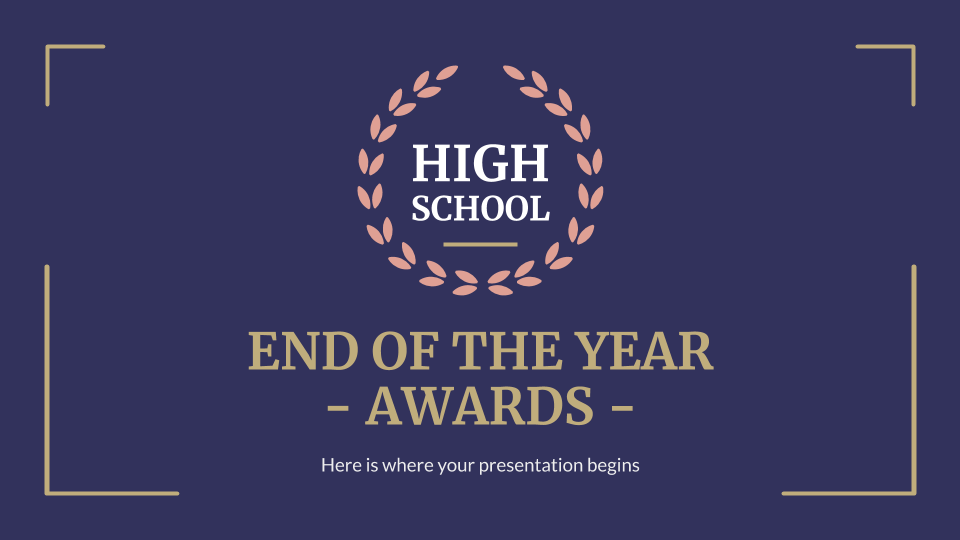 High School End of the Year Awards presentation template