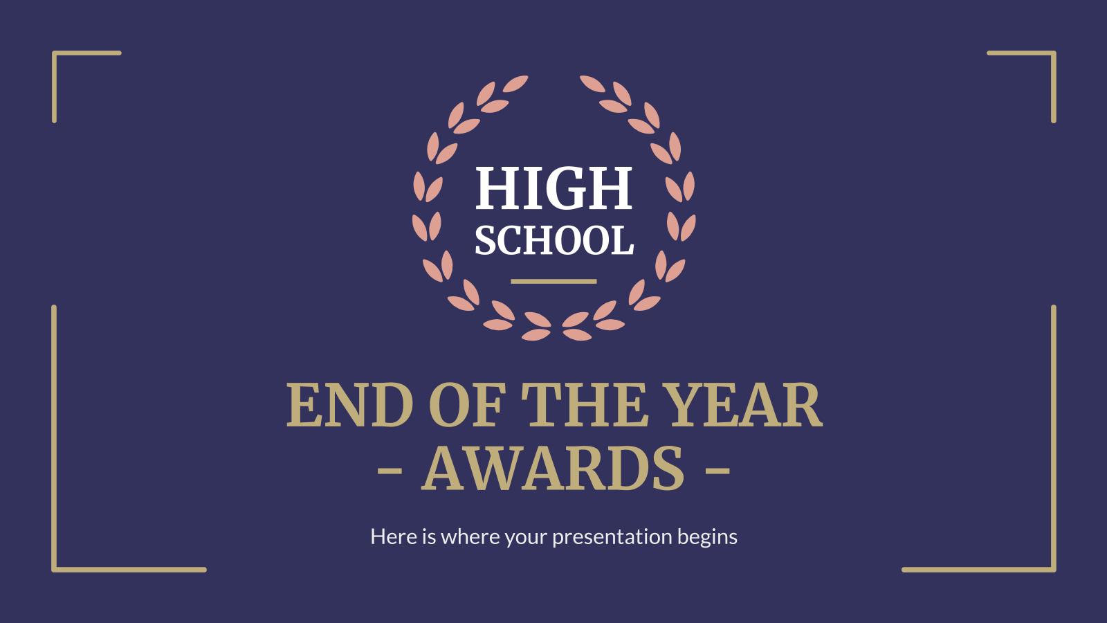 Modelo de apresentação Prêmios fim de ano: ensino médio