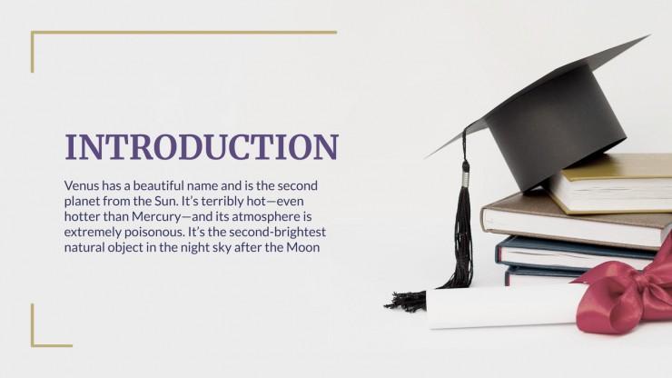 Récompense de fin d´année de lycée : Modèles de présentation